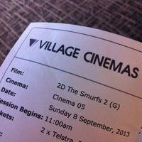 Photo taken at Village Cinemas by Samantha on 9/8/2013