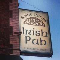 Photo taken at St. James Irish Pub by Paul C. on 5/1/2013