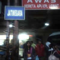 Photo taken at Stasiun Jatinegara by Siwi Eka W. on 1/5/2013