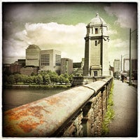 Photo taken at Longfellow Bridge by Davey T. on 8/23/2013
