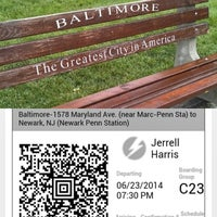 Photo taken at Bolt Bus Baltimore Stop by Jerrell H. on 6/23/2014