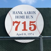 Photo taken at Hank Aaron 715 Home Run Marker by Patrick B. on 9/13/2016