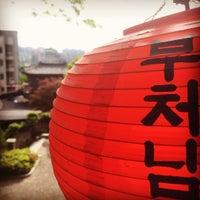 Photo taken at 보문사 (普門寺) by Ji Ho P. on 5/13/2016