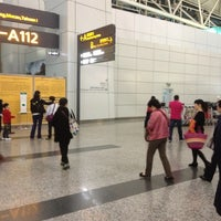Photo taken at Guangzhou Baiyun International Airport (CAN) by Selcan D. on 4/5/2013