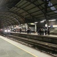 Photo taken at Qutab Minar Metro Station by Jonghyun C. on 9/20/2013