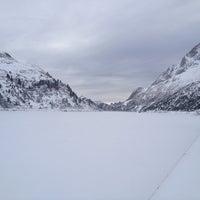 Photo taken at Lago Fedaia by Licia P. on 1/15/2015