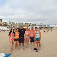 Photo taken at Huntington Beach Beach Volleyball Courts by Begum S. on 7/7/2013