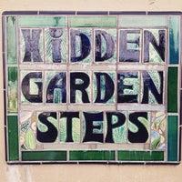 Photo taken at Hidden Garden Mosaic Steps by alberto v. on 2/14/2016