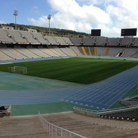 Photo taken at Estadi Olímpic Lluís Companys by Daniel W. on 3/22/2013