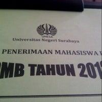 Photo taken at Universitas Negeri Surabaya (UNESA) by Riris A. on 7/30/2013