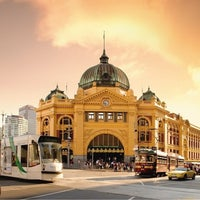 Photo taken at Flinders Street Station by Mateo on 1/21/2013