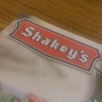 Photo taken at Shakey's Dau by Renz P. on 4/17/2014