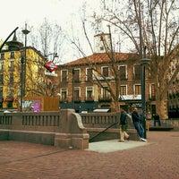 Photo taken at Plaza de Tirso de Molina by Santi J. on 3/21/2013