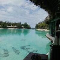 Photo taken at Le Méridien Bora Bora by Ilan R. on 12/27/2016