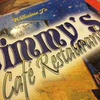 Photo taken at Jimmy's Cafe Restaurant by Ron C. on 8/9/2013