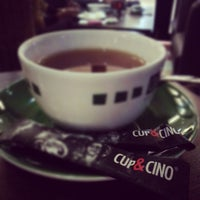 Photo taken at Cup & Cino Coffee House by Echqka S. on 11/23/2012