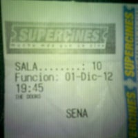 Photo taken at Super Cines 10 by Emerson R. on 12/2/2012