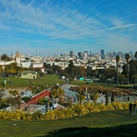Photo taken at Mission Dolores Park by Giuseppe G. on 11/2/2013