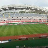 Photo taken at Estadio Nacional by Fabian G. on 6/7/2013