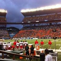 Photo taken at Aloha Stadium by Extra D. on 10/14/2012
