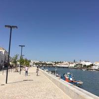 Photo taken at Cais de Tavira by Darío B. on 8/25/2016