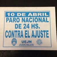 Photo taken at Juzgados de Av. de los Inmigrantes by Martin A. on 4/8/2014