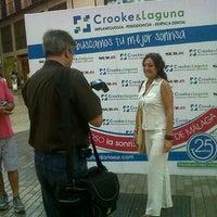 Photo taken at La Sonrisa Más Bonita de Málaga, con Crooke & Laguna by Angel d. on 10/14/2011