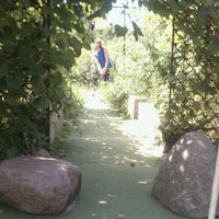 Photo taken at Big Stone Mini Golf & Sculpture Garden by Alicia A. on 8/22/2011