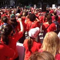 Photo taken at Daley Plaza by Anne P. on 9/3/2012