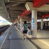 Photo taken at MRT Zhishan Station by Ivana L. on 7/21/2012