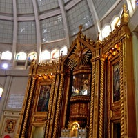 Photo taken at National Shrine of Our Lady of Peace and Good Voyage (Antipolo Cathedral) by Leeza V. on 9/1/2013