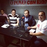 Photo taken at Rádio O POVO CBN Fortaleza FM 95.5 by Carlos Eduardo B. on 8/16/2013