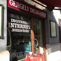 Photo taken at Gergely Delikátesz by Fanni L. on 2/8/2013