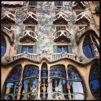Photo taken at Casa Batlló by Benjamin F. on 9/3/2013