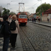 Photo taken at Malostranská (tram) by @fly_sparrow on 5/3/2013