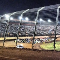 Photo taken at The Dirt Track at Charlotte Motor Speedway by Dave D. on 11/4/2012