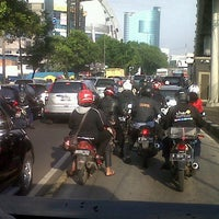Photo taken at Jalan Jenderal Gatot Subroto by Anisa Anjar S. on 4/5/2013