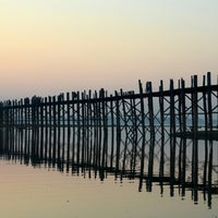 Photo taken at ဦးပိန် တံတား U Bein Bridge by Dave W. on 12/12/2012