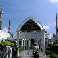 Photo taken at Masjid Kristal by Mohd F. on 3/31/2013