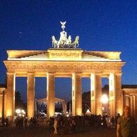 Photo taken at Brandenburg Gate by Dmitry K. on 6/21/2013