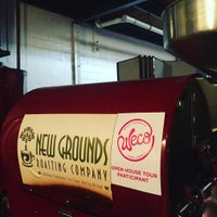 Photo taken at New Grounds Roasting Company by T S. on 5/3/2016