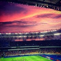 Photo taken at Olimpiyskiy Stadium by Сергей Н. on 7/7/2013