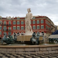 Photo taken at Place Masséna by Val G. on 5/5/2013