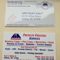 Photo taken at AIM Mail Center by Jennifer G. on 1/15/2013