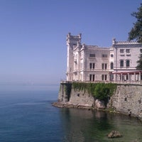 Photo taken at Castello di Miramare by Chiara M. on 4/25/2013