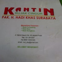 Photo taken at Kantin Rujak Cingur Pak Hadi by Dhydyan S. on 1/31/2013