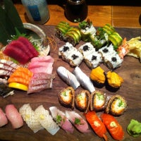 Photo taken at Blue Ribbon Sushi by Wei V. on 9/24/2012