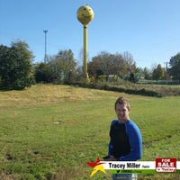 Photo taken at Smiley Face Water Tower by Tracey M. on 11/23/2016