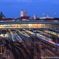 Photo taken at Munich Main Railway Station by Deutsche Bahn on 1/29/2013