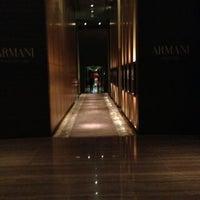 Photo taken at Armani Hotel Dubai by Kirill P. on 1/4/2013